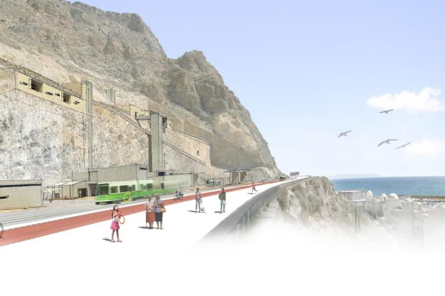 Montaje de los acantilados de Aguadulce