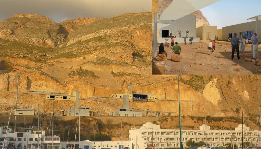 Proyecto en los acantilados de Aguadulce con edificios publicos
