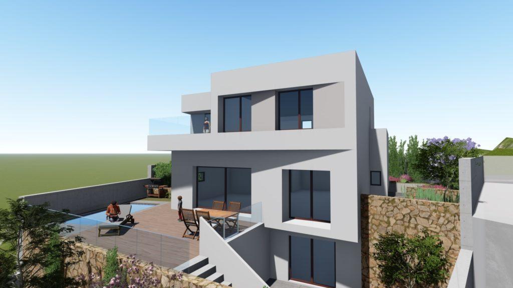 Perspectiva 3D casa en las Colinas de Aguadulce