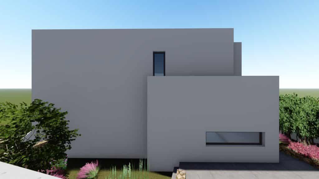 Imagen 3D del lateral casa en las Colinas de Aguadulce