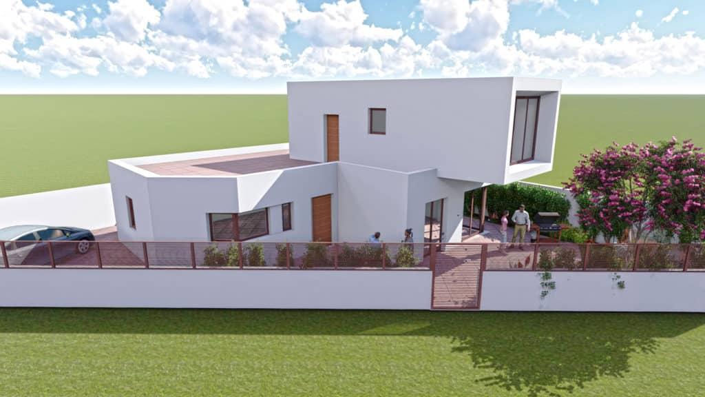 Chalet en Almería imagen de proyecto 3D del exterior