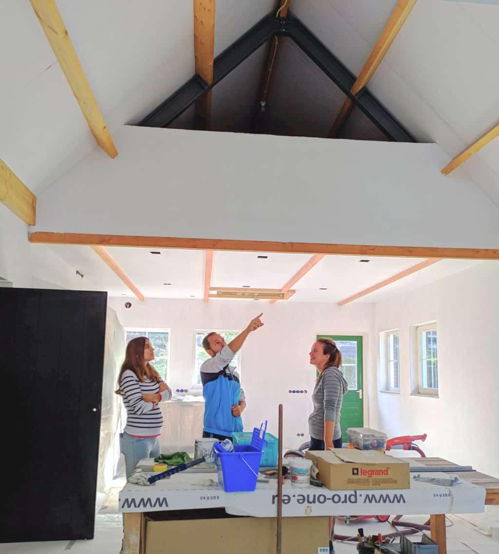 Foto interior obra oficina en Holanda