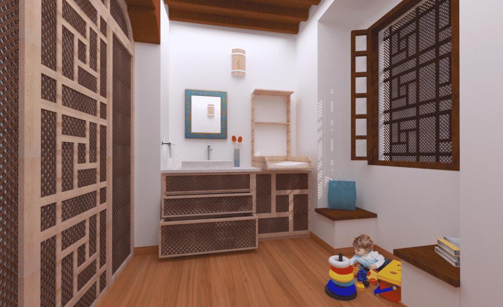 Mobiliario sala de Lactancia en Alcazaba Almeria