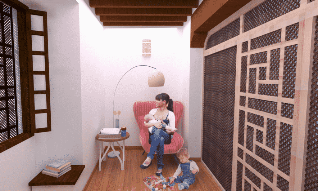 Fotomontaje sala de Lactancia en Alcazaba Almeria