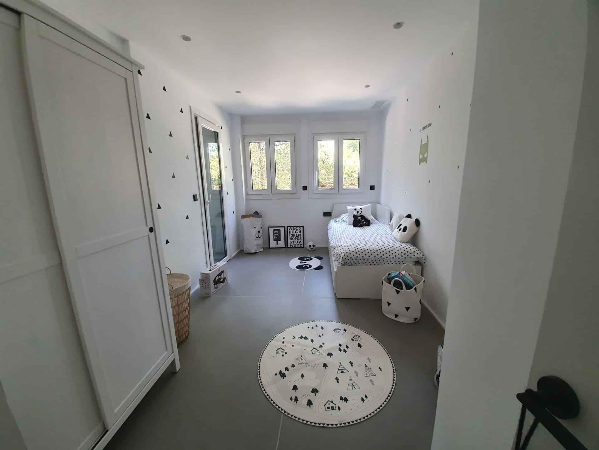 Dormitorio, reforma piso Marbella, decoración ibizenca